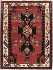Excellent Hand-Knotted Rug 4' x 5' Persian Soft Hamadan Rug