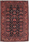 Hamadan Rug Rugs Dicount Sale Hand-Knotted Rug 4' x 7' Persian Soft