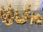 Vintage Fontanini 12 pc Depose Italy Resin Creche Nativity Set w Spider Mark