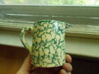 ANTIQUE GREEN SPONGEWARE CREAM PITCHER OVER 100 YRS OLD 3 3/4