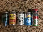 5 Bottom Opened Michigan craft beer cans.