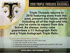2018 Topps Triple Threads Hobby Sealed box Presell