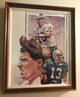 NFL DAN MARINO PORTRAIT SIGNED GICLEE TYPE PRINT FRAMED W NO GLASS