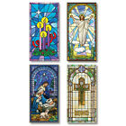 VC804 Set of 4 Church Canvas Banners Nativity and Easter