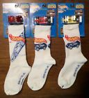 Hot Wheels Collector Socks x3 with VW Baja Bug w Flames Turbo Streak Red Yellow