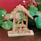 From The Earth Olive Wood Tabletop Nativity Scene Creche Fair Trade
