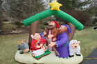 GEMMY Inflatable AirBlown 7 Ft Christmas Nativity Manger Scene