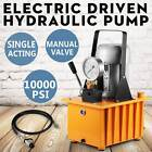 Electric Hydraulic Pump Power Pack 1 Stage Single Acting 110v 10k PSI 488in3 Cap