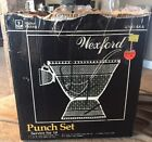WEXFORD PUNCH BOWL SET 11 Quarts, STAND 18 CUPS ANCHOR HOCKING HOOKS Excellent