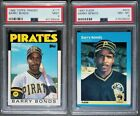 1986 Topps Traded #11T Barry Bonds RC Pirates PSA 9 MINT + '87 Card = 2 Card Lot