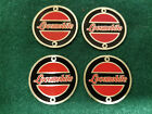 Locomobile Hubcap Medallion Set of 4  Early 1900s Etched Brass SMALL