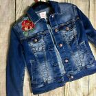 LuLaRoe Harvey Jackey Denim Roses XS Embroidered NWOT Ships Fast