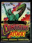 1988 TOPPS DINOSAURS ATTACK! UNOPENED 48 PACK BOX & PROMO POSTER CARDS&STICKERS