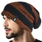NWT Unisex Forbusite Slouch Beanie Skully Cap Black and Rust Halloween FREE SHIP