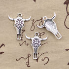 10pcs Charms skull bull ox star head 32*26mm Antique pendant fit,Vintage Silver