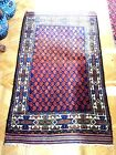 Antique Hand Knotted Authentic Persian Baluch Area Rug
