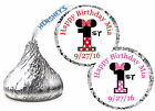 216 MINNIE MOUSE FIRST 1st BIRTHDAY PARTY FAVORS HERSHEY KISS KISSES LABELS