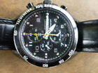 Seiko Sportura 7T62-OKV0 Men'sBlack Leather Strap Alarm Chronograph Sports WATCH