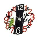 Tree Shaped Bird Round Wall Clock for living room home office wall decor Clock