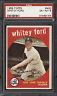 1959 Topps #430 Whitey Ford New York Yankees - PSA 6 EX-MT Nice Centered