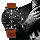 MIGEER 2018 Fashion Style Casual Mens Watch Luxury Leather Business Quartz NEW