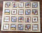 Dianna Marcum Christmas Fabric Panel Holiday Nativity 20 Squares Quilt Craft OOP