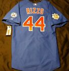 MAJESTIC Authentic SIZE 56 3XL Chicago Cubs BLUE, ANTHONY RIZZO ON FIELD Jersey