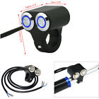 Motorcycle Handlebar Switch Horn Engine Start Kill Dual Button LED Self-return