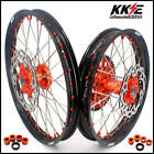 KKE 21/18 ENDURO WHEEL SET FOR KTM EXC EXC-F 200 250 300 350 400 ORANGE NIP DISC
