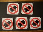 5 No Junk Mail Stickers - for your mailbox - anti-spam, flyers, ads.  Go Green!