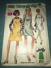 VTG SIMPLICITY 7622 DRES IN 3 STYLES - JIFFY - EASY  SIZE 10 Bust 32.5 1968