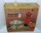 VINTAGE FEDERAL GLASS 8PC HOMESTEAD SNACK SET ORIGINAL BOX NEW OLD STOCK