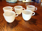 Vintage Anchor Hocking Fire King White Coffee Mugs - Set of 5