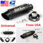 Universal 36-51mm Motorcycle Stainless Steel Exhaust Pipe Muffler Modified (USA)