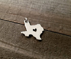 Texas Charm State Pendant TX Silver Charm with Jump Ring I Love Texas