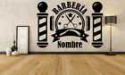 Wall Vinyl Sticker Barber Shop Logo Sign Hair Salon Beauty Spa Cuttery Set GF641