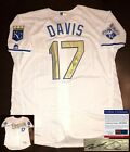 Kansas City Royals Wade Davis Signed Jersey PSA DNA 2015 WS Champs COA