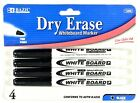 4 Dry Erase White Board Markers Fine Point Tip Black Color NEW Free shipping