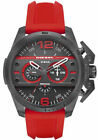 Brand New NWT Diesel Ironside DZ4388 Chronograph Red Gray Dial Men's Watch