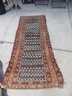 ANTIQUE WOOL SAROUK RUG RUNNER 8 FEET X38
