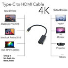 HDMI Cabel Adapter Type C Male to HDMI Female 4K 60Hz for New MacBook DELL HP