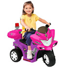 Power Wheels For Girls Police Motorcycle Bike Battery Powered Ride On Toy 6V NEW