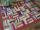 Antique Vintage Victorian Log Cabin Baby Crib Quilt Browns Autumn Fall 24