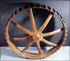VINTAGE INDUSTRIAL LARGE WOOD TOOTHED WHEEL GEAR MOLD STEAMPUNK GM-50