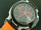 TISSOT MENS T-RACE QUARTZ CHRONOGRAPH BLACK PVD SS WITH DATE ON ORANGE STRAP
