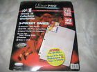 NIP Ultra Pro Hologram Series 9 Pocket Pages 30 Protectors Holds 270 Cards 2