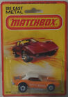 DTE 1982 CARD LESNEY MATCHBOX SUPERFAST 1 D WHITE ROOF DODGE CHALLENGER NIOP