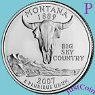 2007 P MONTANA STATE MT QUARTER UNCIRCULATED FROM US MINT  STATE QUARTERS