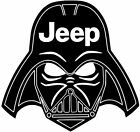 JEEP STAR WARS DARTH VADER HELMET Decal Vinyl CAR Wrangler Rubicon 8 COLORS