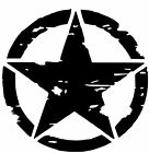 Jeep Wrangler Blackout Oscar Mike Distressed Star Decal Various Sizes Colors